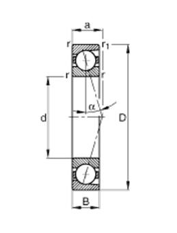 Подшипник B7002-C-T-P4S-UL чертёж